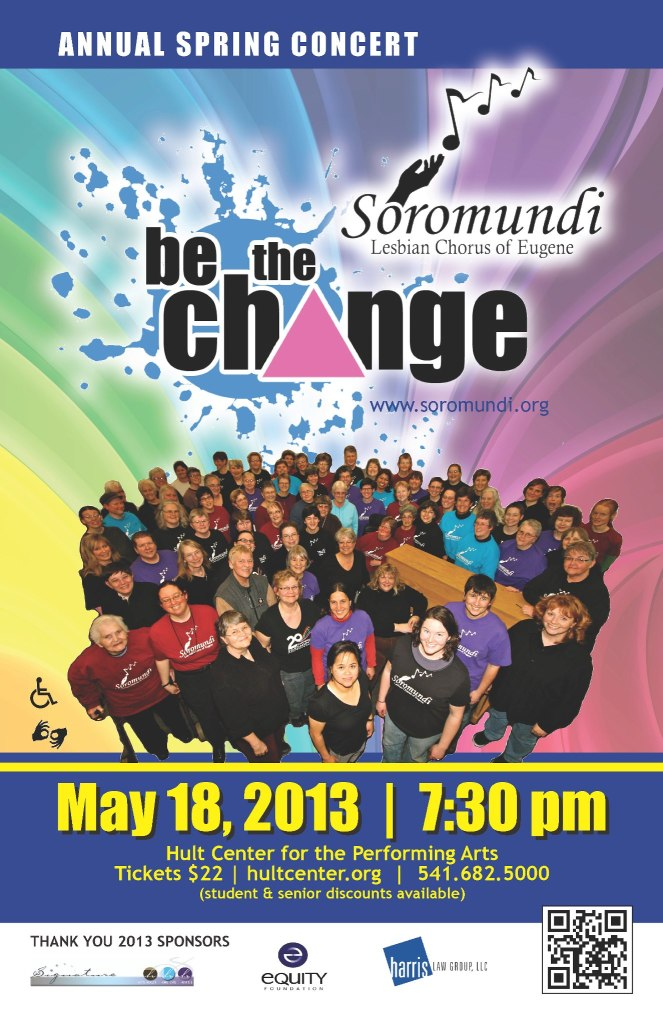2013 Be The Change Concert Poster